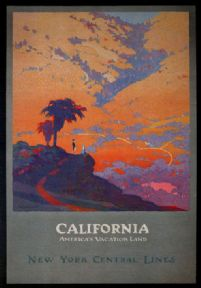 Vintage Travel Poster California, New York Central Lines